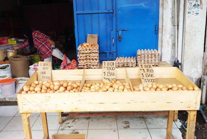 Masih Mahal !! Harga Telur Ayam Buras Rp54 Ribu Satu Bak