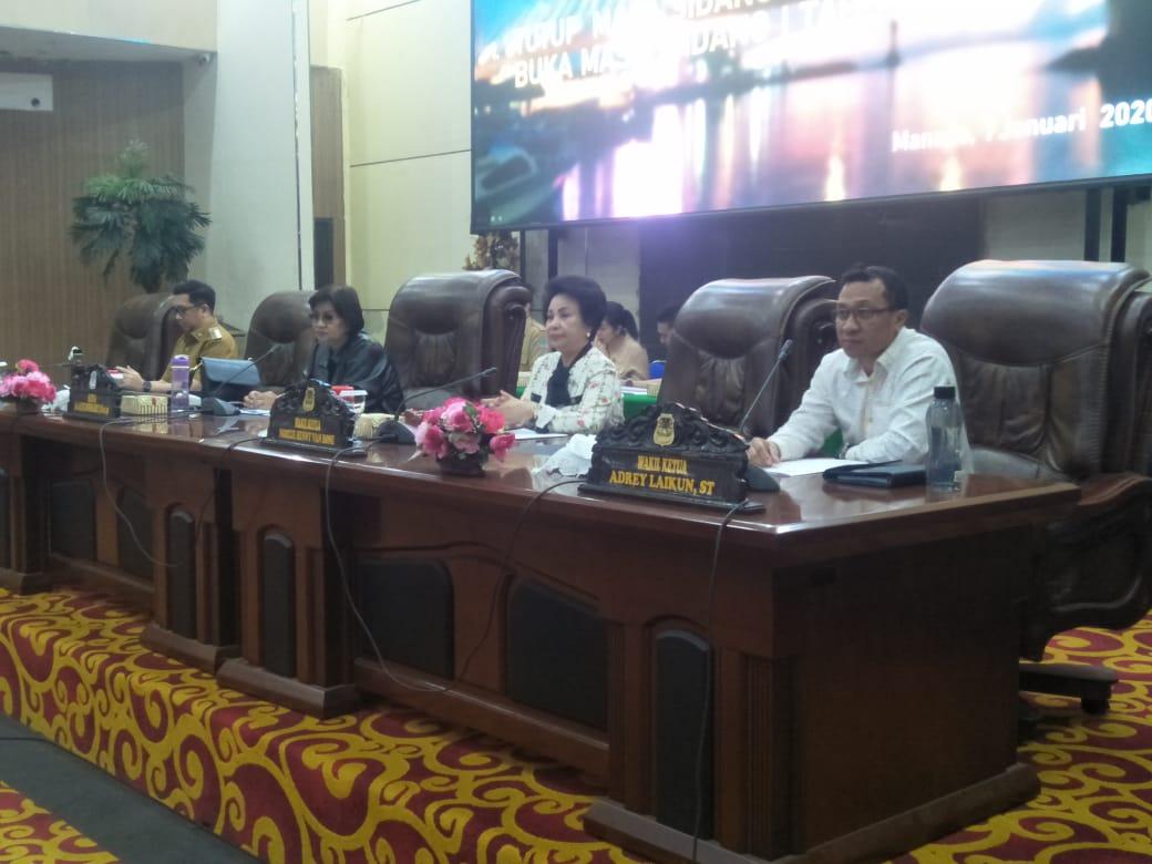 DPRD Kota Manado Gelar Rapat Paripurna Tutup dan Buka Masa Sidang 2020
