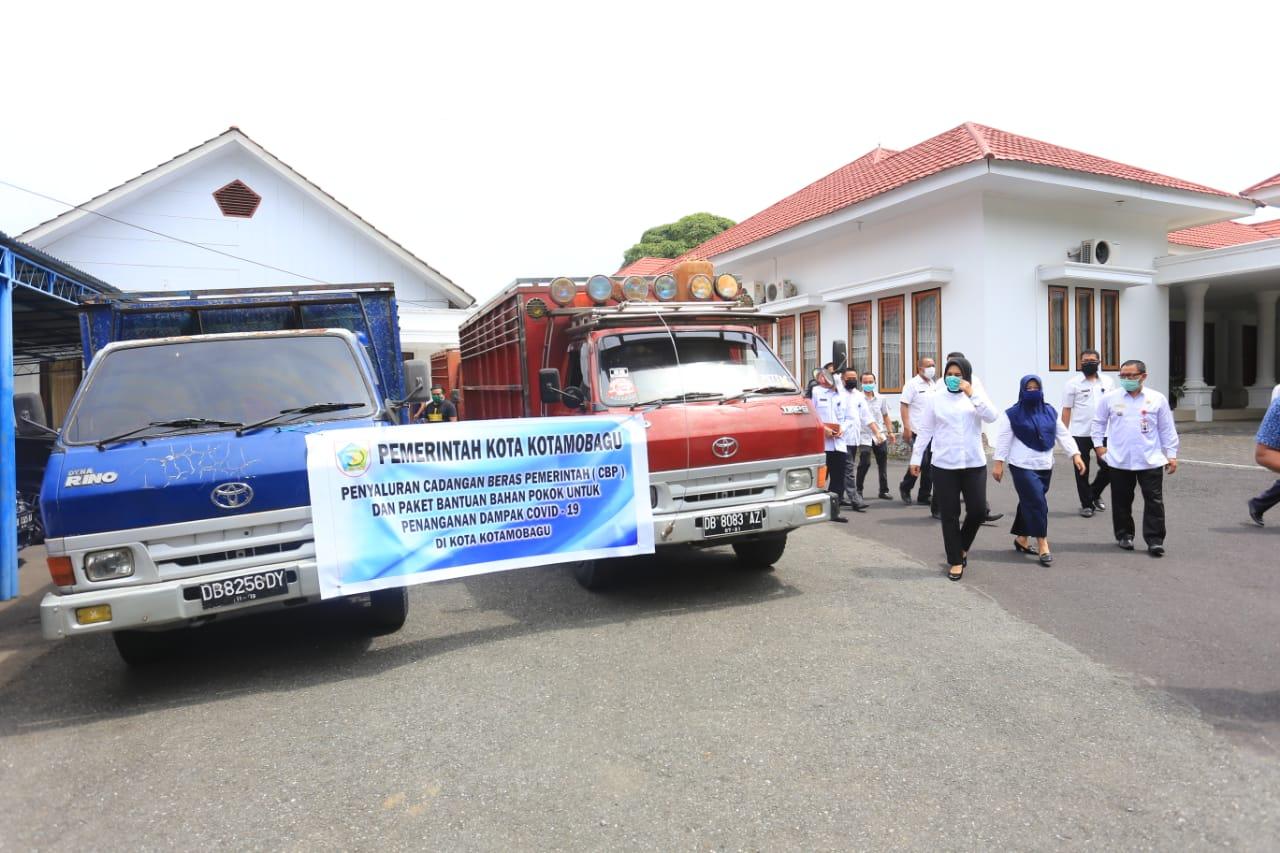 5400 Paket Bansos Untuk Warga Kota Kotamobagu Mulai Disalurkan
