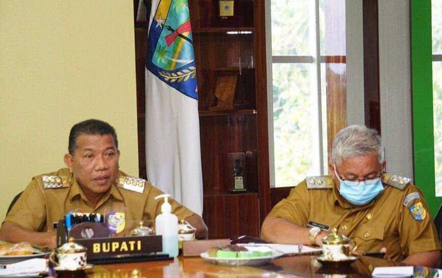 LKPD Unaudited 2019, Bupati Bolmut Ikuti Video ConferenceBersama BPK RI dan Gubernur Sulut