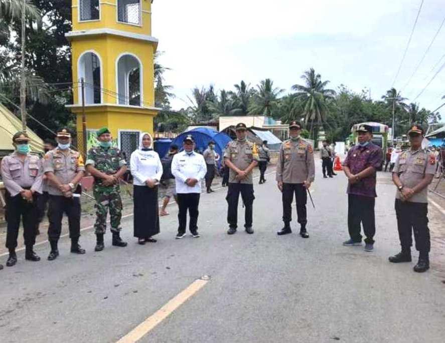 Kunker di Tapal Batas Sulut-Gorontalo, Bupati Depri Pontoh Dampingi Kapolda Sulut dan Rombongan