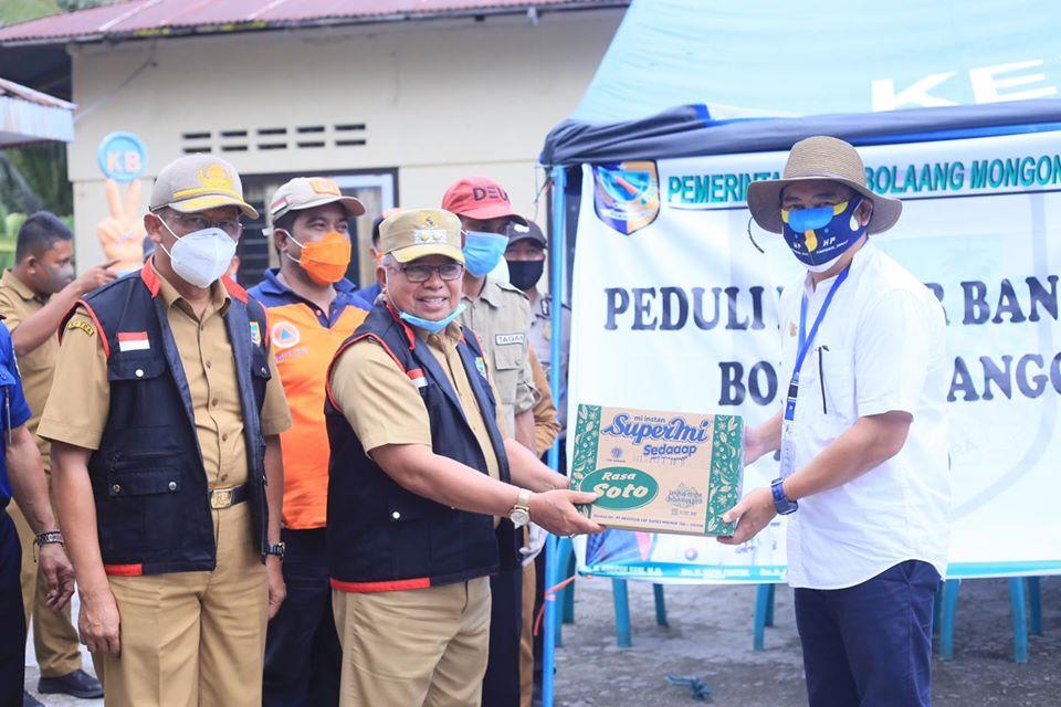 Pemkab Bolmut Berikan Bantuan Bagi Korban Bencana Alam di Kabupaten Bone Bolango