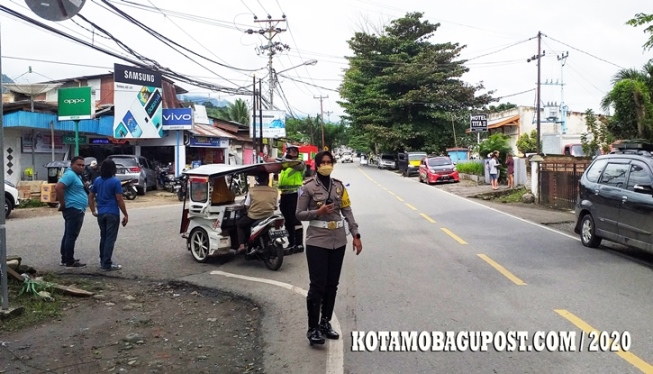 Kasat Lantas AKP Novita Restika, Pimpin Langsung Ops Patuh di Wilayah Polres Kotamobagu