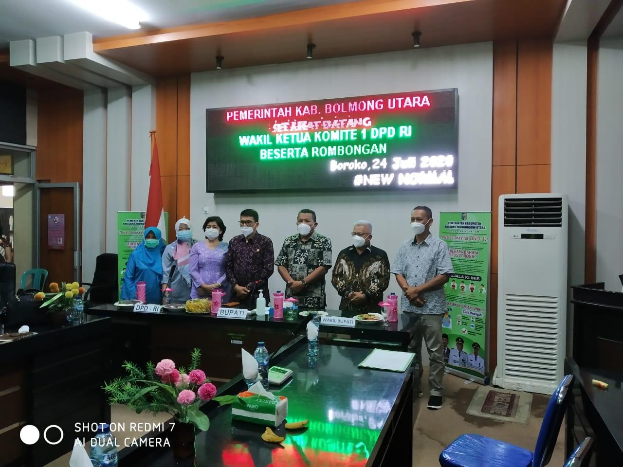 Wakil Ketua Komite I DPD RI Djafar Alkatiri Kunjungan Kerja Ke Bolmut