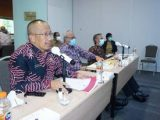 Sekda Bolmut Sampaikan Kondisi Bencana Dan Upaya Penanggulangannya di Hadapan BNPP Dan Kementerian PUPR RI