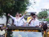 Teriakan Takbir Terdengar Iringi Pendaftaran CEP-Sehan di Pilkada Sulut