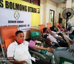 Peringati HKGB Ke-68, Bhayangkari Bolmut Gelar Donor Darah