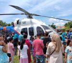 Kapolda Sulut Berkunjung Ke Kotamobagu Menggunakan Helikopter