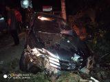 Kecelakaan Tunggal, 5 Penumpang Kendaraan Dilarikan ke Puskesmas Bolangitang