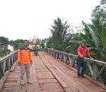 Jembatan Darurat Kosio Sudah Bisa Dilalui Mobil Dan Motor