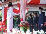 Upacara HUT RI ke 75, Walikota Kotamobagu Berpesan Terus Tingkatkan Semangat Kerja Membangun Daerah Ditengah Pandemi C-19